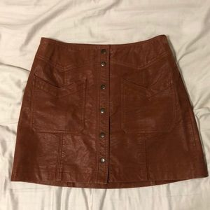 Free People Faux-suede Come a Little Closer Skirt